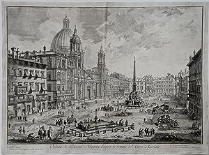 Veduta di Piazza Navona Sopra le rovine del Circo Agonale: Anonimo
