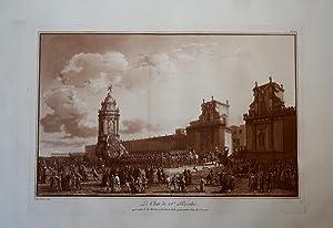 La Char de Ste Rosalie, passant de la Marine à la Porte Felice pour entres dans le Cassero: HOUEL ...