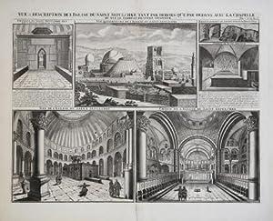 Vue & Description de L'Eglise du saint Sapulchre Tant par Dehirs Que Par Dedans Avec La ...