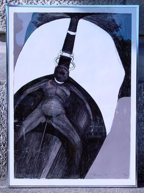 O. T. [Porno kills sensuality]. Lithographie. Ungerer, Tomi