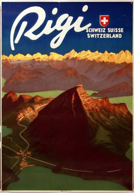 Plakat - Rigi. Lithographie.: Moos, Carl