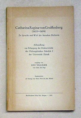 Catharina Regina von Greiffenberg (1633 - 1694).: Greiffenberg, Catharina Regina