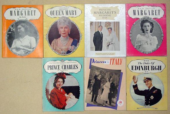 Konvolut von 9 Broschüren zu Mitgliedern des englischen Königshauses].