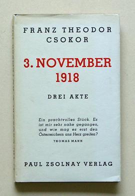 Bildergebnis für franz theodor csokor 3, november 1918