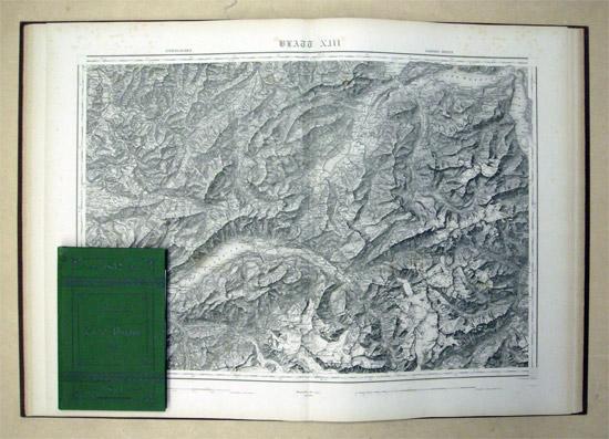 Topographische Karte der Schweiz. Vermessen und herausgegeben: Dufour, G[uillaume]-H[enri]