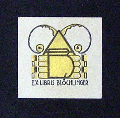 Exlibris.: Blöchlinger, Anton