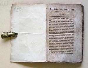 Das Helvetisches Volksblatt Nr. 1(8. September 1798)-19(28. Februar 1799) - alles was erschienen.: ...