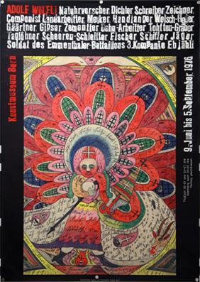 Plakat - Adolf Wölfli- Kunsthaus Bern. Siebdruck.: Pfund, Roger &