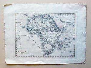 Africa. Kupferstich, randkoloriert.