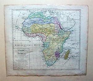 Charte von Africa nach astronomischen Beobachtungen. Kupferstiche, grenz- u. randkoloriert.: ...
