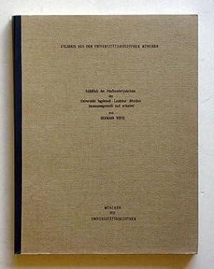 Exlibris aus der Universitätsbibliothek München. Anlässlich der Fü...