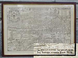 Murerplan der Stadt Zürich. Holzschnitt.: Murer, Jos