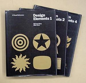 Design elements. A visual reference. Bd. 1, 2 und 4 (3 Bde. von insg. 4).: Hora, Richard u. Mies