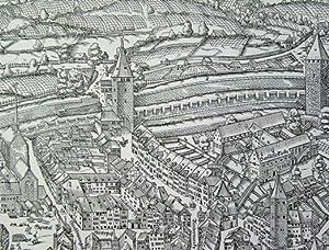 Planvedute der Stadt Zürich 1576. Handabzüge von: Murer, Jos