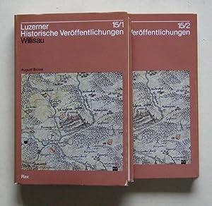 Willisau. Geschichte von Stadt und Umland bis 1500 (2 Halb-Bde., compl.).: Bickel, August