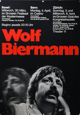 Plakat - Wolf Biermann. Siebdruck.: Biermann, Wolf