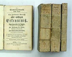 Des Elementarwerks Erster bis vierter Band (compl.,: Basedow, Johann Bernhard