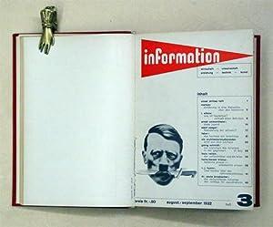 Information - Wirtschaft - Wissenschaft - Erziehung - Technik - Kunst. 1. Jahrgang: Heft 1, Juni ...