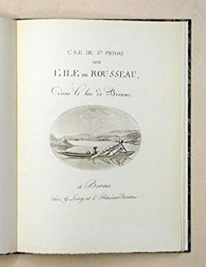 L? île de St. Pierre dite l?île de Rousseau dans le lac de Bienne. [Auf Deckel:] ...