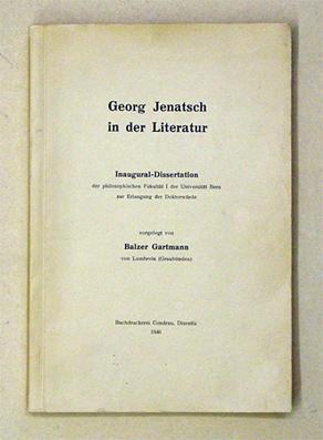 Georg Jenatsch in der Literatur.: Gartmann, Balzer