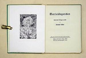 Marienlegenden. Nach alten Vorlagen erzählt.: Falke, Konrad - Gertrud Escher (Ill.)