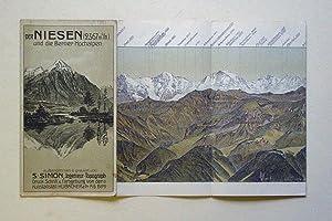 Der Niesen (2367 m. ü. M) und die Berner Hochalpen. [Kartentitel:] Die Hochalpen vom ...
