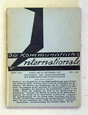 Zeitschrift des Exekutivkomitees der Kommunistischen Internationale. Heft 17/18.