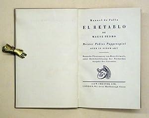 El retablo de Maese Pedro. Meister Pedros Puppenspiel. Oper in einem Akt.: Falla, Manuel de