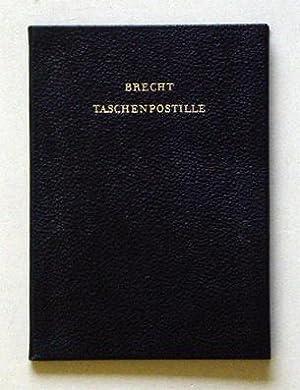 Bertolt Brechts Taschenpostille. Mit Anleitungen, Gesangsnoten und einem Anhange.: Brecht, Bertolt