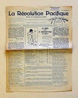 La révolution pacifique. Bulletin de propaganda pacifiste. No 17 - 1929.: Liechti. Ed. (Red....