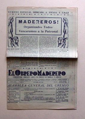 El Obrero Maderero - Organo del Sindicato Unico de Obreros en Madera Y Anexos. Ano II, N° 12: ...