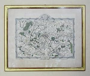 Carte des environs de Paris contenant 8 lieues du Nord au Sud et 12 lieues de l'Est à l...