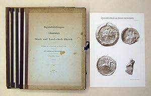Sigelabbildungen zum Urkundenbuch der Stadt und Landschaft Zürich. 7 Mappen (I - VI, XI ...