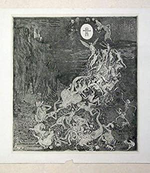 Homunculus - Faust Impressionen. Radierung.: Laske, Oskar