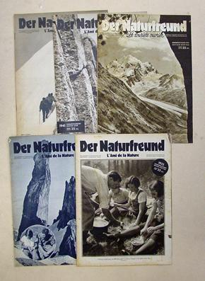 Der Naturfreund - L?ami de la nature. Sommerausgabe. 1932, 1935, 1936, 1941, 1943 (5 Hefte).