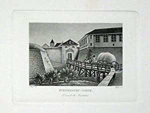Niederdorf-Porte. 1 Aquatinta ; auf aufgewalztem China.: Hegi, Franz
