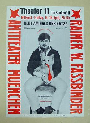 Plakat - Blut am Hals der Katze- Marliyn Monroe contre les vampirs. Antiteater Muenchen im Theater ...