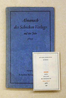 Almanach des Schocken Verlags auf das Jahr 5695.