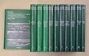INSA - Inventar der neueren Schweizer Architektur 1850 -1920. Bd. 1 - 11. [11 Bde.; komplett].: ...