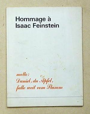 Hommage à Isaac Feinstein. Motto: Daniel, du: Spoerri, Daniel -