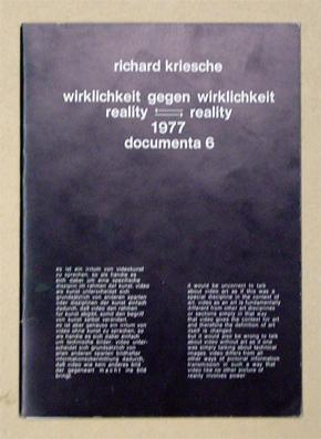 Wirklichkeit gegen Wirklichkeit. Reality - Reality.: Kriesche, Richard