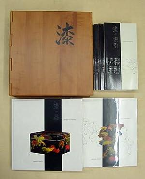 Urushi. Japanlack. Holzkassette mit 5 Bänden, sowie