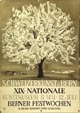 Schweizerkunst in Bern. XIX Nationale. Lithographie.