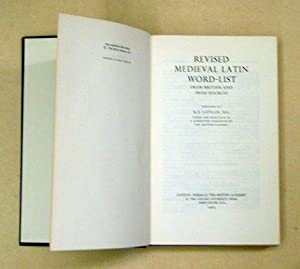 Revised Medieval Latin Word-List.: Latham, R. E.