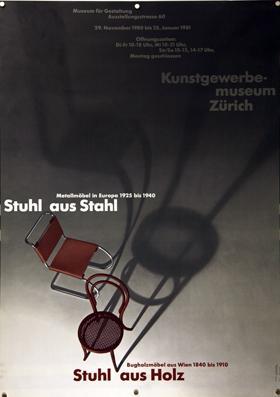 Plakat - Stuhl aus Stahl. Metallmöbel in: Hamburger, Jörg -