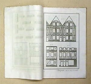 Charpenterie. [Auszug aus dem Tafelteil der «Encyclopédie»].: Diderot, Denis u.