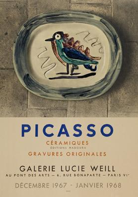 Plakat - Picasso Cermiques Editions Madoura -: Pablo Picasso