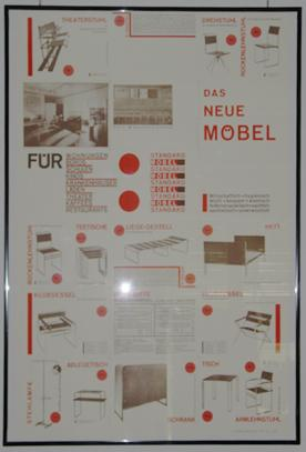 Das Neue Möbel. Plakat 98 x 65 cm.: Breuer, Marcel
