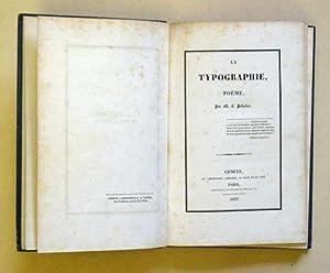 La Typographie, Poème.: Pelletier, M. L