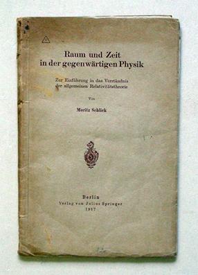 Raum und Zeit in der gegenwärtigen Physik. Zur Einführung in das Verständnis der ...